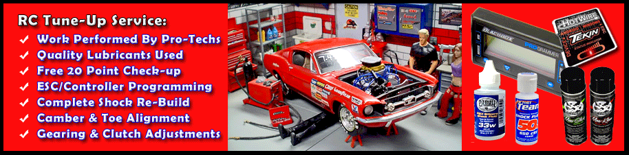 RC Car & Truck Tune-Up Service | RC Cleaning, Lubrication
