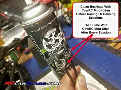 CowRC Moo-Kleen & Moo-Slick Used on Axial Stock Bearings for Extended Life and Performance